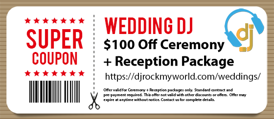 $100 Off Coupon - DJ Rock My World.com