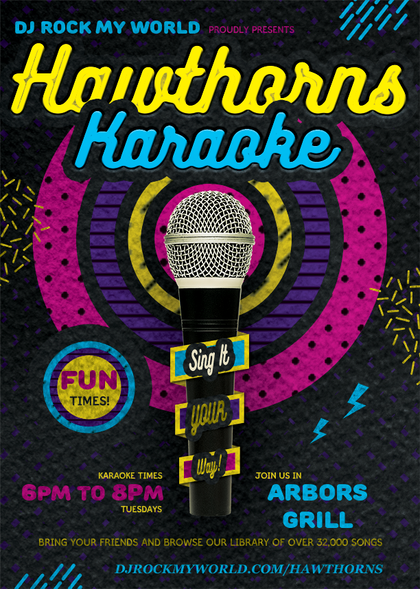 Hawthorns Karaoke and DJ Rock My World.com