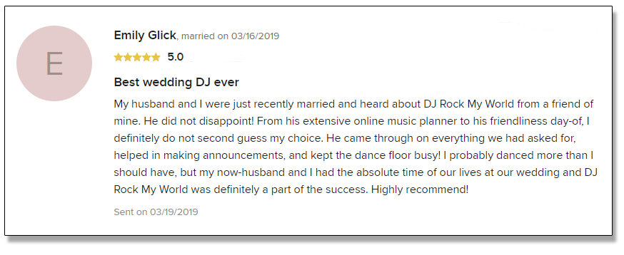 Emily's Review of DJ Rock My World.com