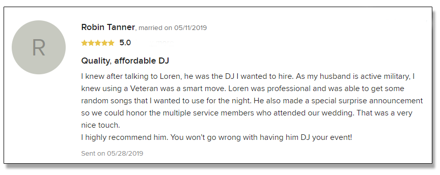 Robin's Review of DJ Rock My World.com